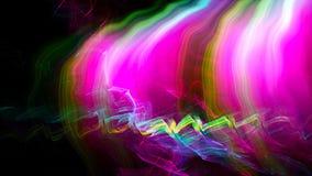 Abstração da radiação com claro - a distorção do espaço com efeito brilhante, fundo gerado por computador, 3D rende filme