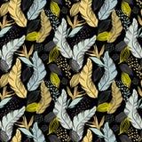 Abstração da selva Folhas e plantas tropicais Fotos de Stock