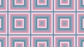 Abstração dada laços - os quadrados aparecem um do outro e expandem video estoque