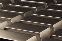 Abstração das barras de ouro 3d rendem ilustração do vetor