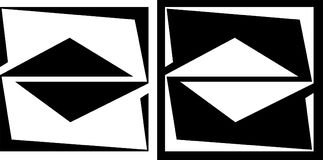 Abstração de um quadrado e de um triângulo isolados e em um logotipo escuro do negócio do projeto do fundo Imagens de Stock