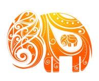 Abstração do elefante Imagens de Stock