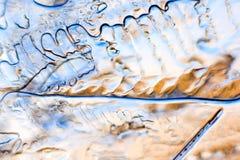 Abstração do gelo Imagens de Stock