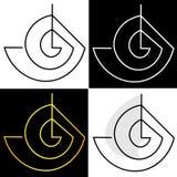 Abstração dos círculos e do logotipo do negócio do barco dos cantos Fotografia de Stock Royalty Free