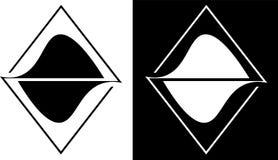 A abstração dos esboços dos triângulos é isolada e contra um logotipo escuro do negócio do projeto do fundo Fotos de Stock Royalty Free
