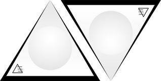 A abstração dos triângulos e a bola projetam o logotipo do negócio Fotografia de Stock Royalty Free