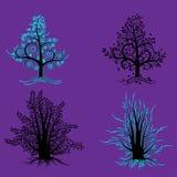 Abstração EPS 10 das árvores Foto de Stock