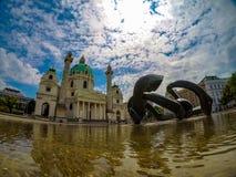 Abstração incomum na cidade austríaca de Viena imagem de stock