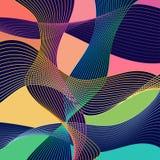 Abstração moderna de Stle com a composição feita de várias formas arredondadas na cor ilustração stock