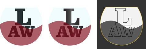 Abstração para o logotipo do negócio da lei das empresas de advocacia Fotografia de Stock