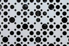 Abstração preto e branco, círculos pretos no fundo branco fotografia de stock royalty free
