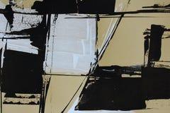 Abstração preto e branco com pinturas acrílicas fotos de stock royalty free