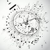 Abstração técnica criada no baixo estilo poli Engenharia dracma ilustração do vetor