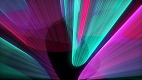 Abstra??o com cores brilhantes, fundo gerado por computador da mostra do laser da rendi??o 3d filme
