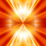 Abstrabstract explosion. Abstract explosion on a bright red background stock illustration