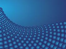 Abstracção azul das esferas Fotos de Stock