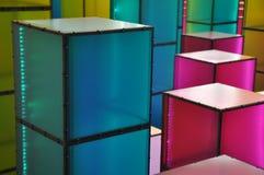 Abstracção colorida do cubo Imagem de Stock