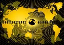 Abstracção com globo Fotografia de Stock Royalty Free