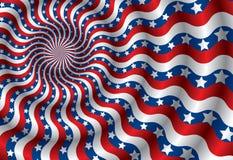 Abstracção da bandeira dos EUA do vetor (CMYK) Imagens de Stock