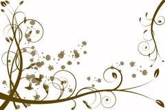 Abstracção da flor do ouro, teste padrão Imagem de Stock