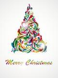 Abstracção decorativa da árvore de Natal Imagens de Stock