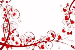 Abstracção do amor do coração Foto de Stock Royalty Free