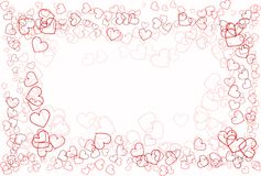 Abstracção do amor do coração Fotos de Stock