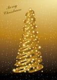 Abstracção do Natal do ouro Imagem de Stock