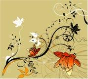 Abstracção floral Fotografia de Stock Royalty Free