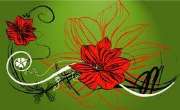 Abstracção floral Foto de Stock
