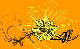 Abstracção floral Foto de Stock Royalty Free