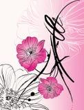 Abstracção floral Imagem de Stock