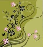 Abstracção floral Fotos de Stock