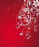 Abstracção floral com coração Fotografia de Stock