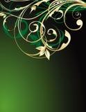 Abstracção floral do ouro Imagens de Stock Royalty Free