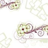 Abstracção floral. Ilustração do vetor para o desig Fotografia de Stock