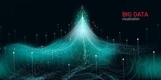 Abstracção futurista Visualização grande dos dados ilustração royalty free