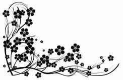 Abstracção preto e branco, Imagens de Stock Royalty Free