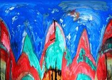 Abstracção Sumário Pintura retrato ilustração royalty free