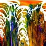 Abstracção Sumário Pintura retrato ilustração stock