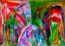 Abstracção Sumário Pintura retrato Textura textured uniqueness abstractions sumários texturas colorido cores Grap ilustração stock