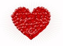 Abstracção vermelha do coração Imagem de Stock