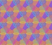 Abstrac五颜六色的花无缝的样式 库存图片