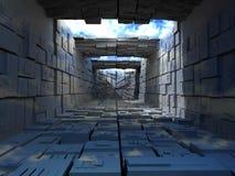 abstrac кладет здание в коробку бесплатная иллюстрация