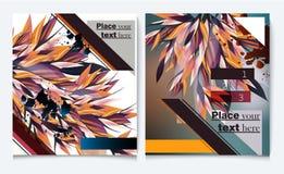 Abstrac представления крышки вектора шаблона дизайна рогульки брошюры Стоковое Изображение RF