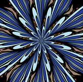 Abstrac azul de la explosión de color Foto de archivo