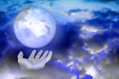 Abstrac com mãos e planeta Fotografia de Stock Royalty Free