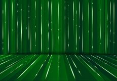 Abstrac digital lazer line science fiction matrix dark green per. Spective background, Vector illustration Stock Image