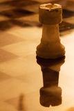 Abstrac gold tower in a chess board Royalty Free Stock Image