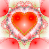Abstrac heart computer-generated image Stock Photography